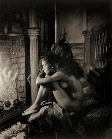 Nude by fireplace by James Van Der Zee on artnet