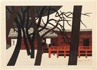 winter in nikko by kiyoshi saito