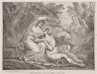 rinaldo and armida, juno, venus and adonis and untitled (6 works) (9 works) by angelika kauffmann