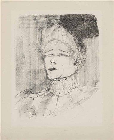 jeanne granier from portraits dacteurs et dactrices treize lithographies by henri de toulouse lautrec
