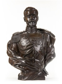 bust of czar nicholas ii (after severs) by leopold bernhard bernstamm