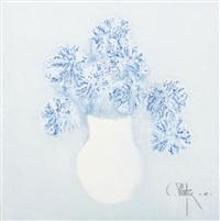blue flowers by constantin piliuta