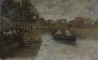 la promenade en barque by j. david de sauzea