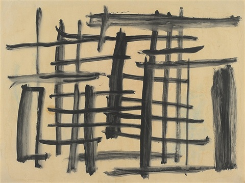 untitled drawing no 10 black and white lattice by john anthony tony tuckson