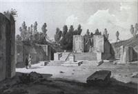 une vue du temple d'isis . pompei by alberto vianelli