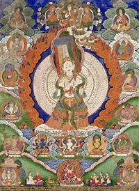 a thangka of sitatapatra by anonymous-tibeto-chinese (19)