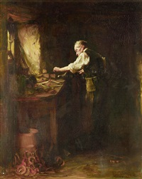 the blacksmith by george ogilvy reid