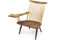single arm lounge chair by mira nakashima-yarnall