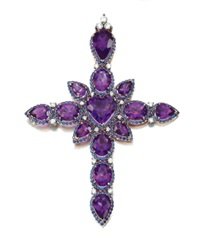 latin cross pendant by michael youssoufian