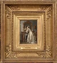 femme à son miroir by henri lafon