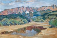pre-alps landscape by carl arp