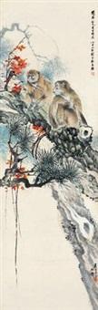 松猴图 by liu kuiling and hou renqian