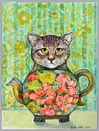 cat pot (design) by anita lobel