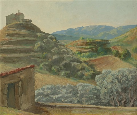paysage à la chapelle by pierre paul girieud
