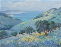 impressionist landscape by frank montague moore