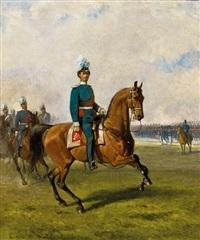 könig ludwig ii. zu pferd by louis (ludwig) braun