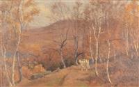steer in a western landscape by thomas allen jr.