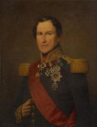 portrait de léopold 1er en tenue d'apparat by nicaise de keyser