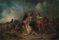 militärische szene aus der zeit des spanischen erbfolgekrieges by eugen adam