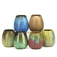 cabinet vases (6 works) by fulper pottery