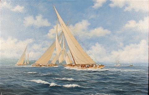 """""""candida"""" racing on the clyde by john j. holmes"""