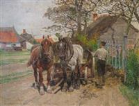 les chevaux de traits by frans van leemputten