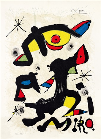 自畫像 self portrait by joan miró
