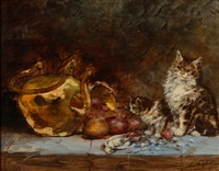 les chats sur la table by jules leroy