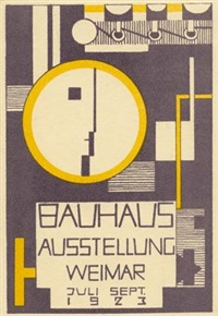 komposition mit bauhaussignet by rudolf baschant