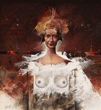 half-nude lady by jiri brazda