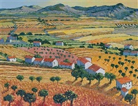 continental landscape in summer by alan cotton
