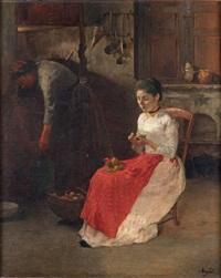 scène d'intérieur dans une cuisine by charles-jean agard