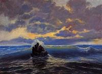 roca en el mar by josé marie de la bastida y fernandez