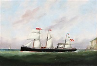 the steamer knud by edward adams
