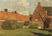 a view of the schuttersdoelen, haarlem (study) by antonie louis koster