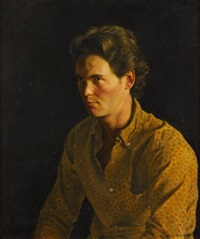 a portrait of luke by jamie wyeth