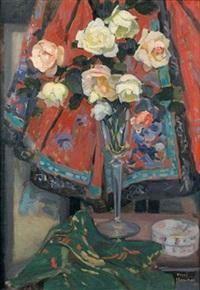 roses dans un vase by henri marchal