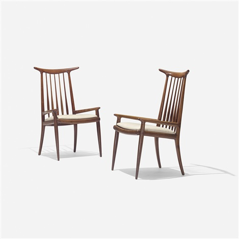 horn back chairs pair by sam maloof