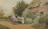 setting off to market by arthur claude strachan