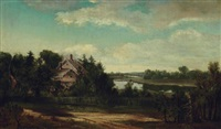 bowman's homestead on the cayuga river by lars gustaf sellstedt