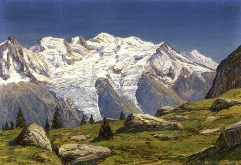 le mont blanc vu de plan praz by angelo abrate