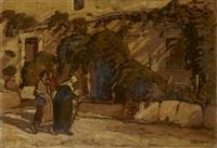 comtadines dans la rue de la monnaie by joseph marius hurard
