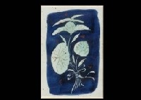 flowers (set of 101) (+ moon and woman, ceramic relief, smllr; 2 works) by goro kawamoto