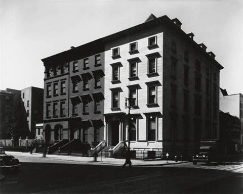 fifth avenue houses 4 6 8 by berenice abbott