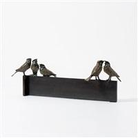 5 sparrows by jacqueline van der laan