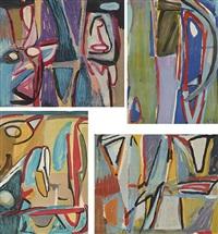 sans titre (set of 4) by bram van velde