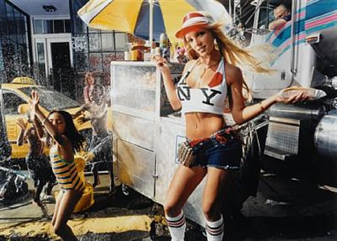 britney spears with hot dog, san diego by david lachapelle
