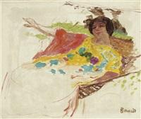 femme au peignoir dans un hamac by pierre bonnard