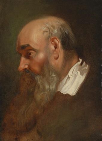 studienkopf eines bärtigen mannes study by sir peter paul rubens