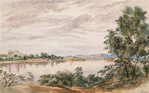 view of government house sydney from the north shore by samuel elyard
